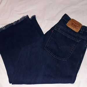 Vintage Levi's 577 Raw Seam 10 Mis L High Waist